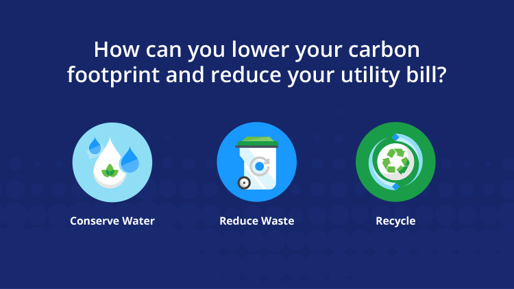 How you can lower your carbon footprint and reduce your utility bill
